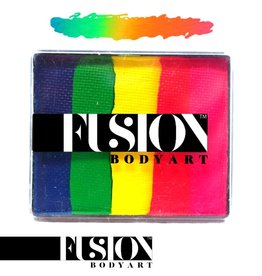 Fusion Body Art FX RAINBOW CAKE - NEON RAINBOW 50g