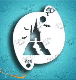 DivaStencils 923 Diva Stencil Spooky Castle