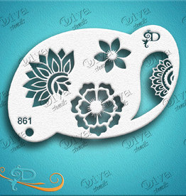 DivaStencils 861 Diva Stencil Floral Henna