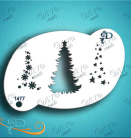 DivaStencils 1477 Diva Stencils Tree and Ornaments