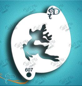 DivaStencils 607 Diva Stencil Cute Rudolph