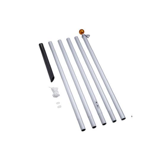 FAIRYBELL FAIRYBELL 600CM Deelbare vlaggenmast - Zilver