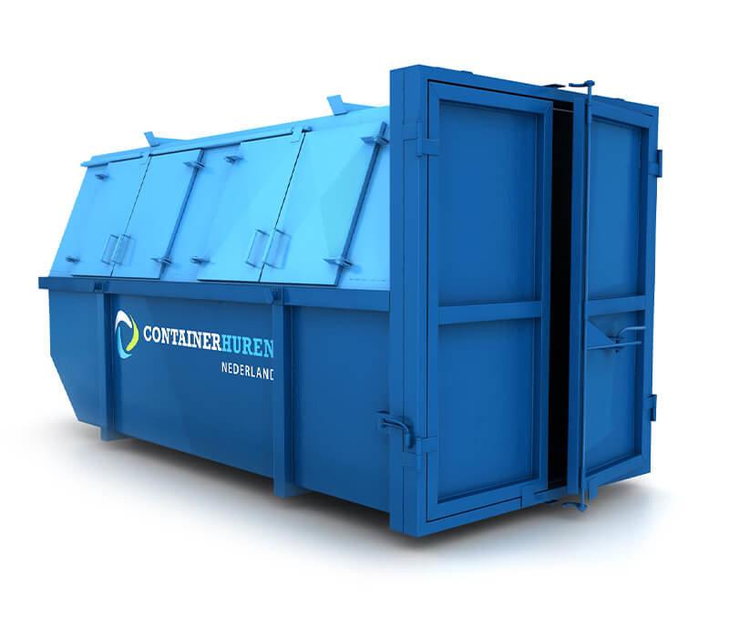 10 m³ afvalcontainer gesloten