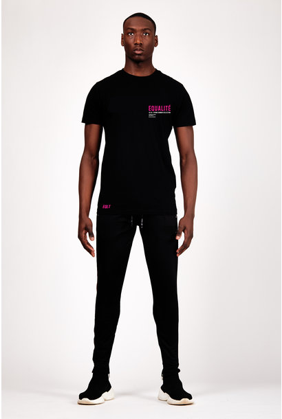 UNITED T-SHIRT BLACK NEON PINK