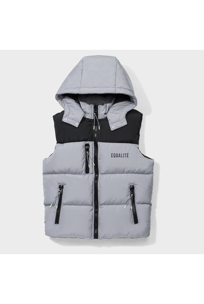DOUBLE BODYWARMER GREY & BLACK