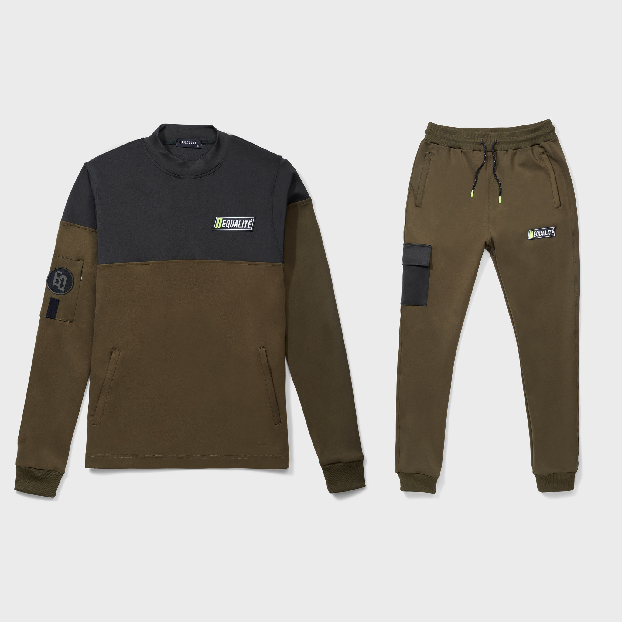 FUTURE POLYESTER TRACKSUIT ARMY & GREEN-1
