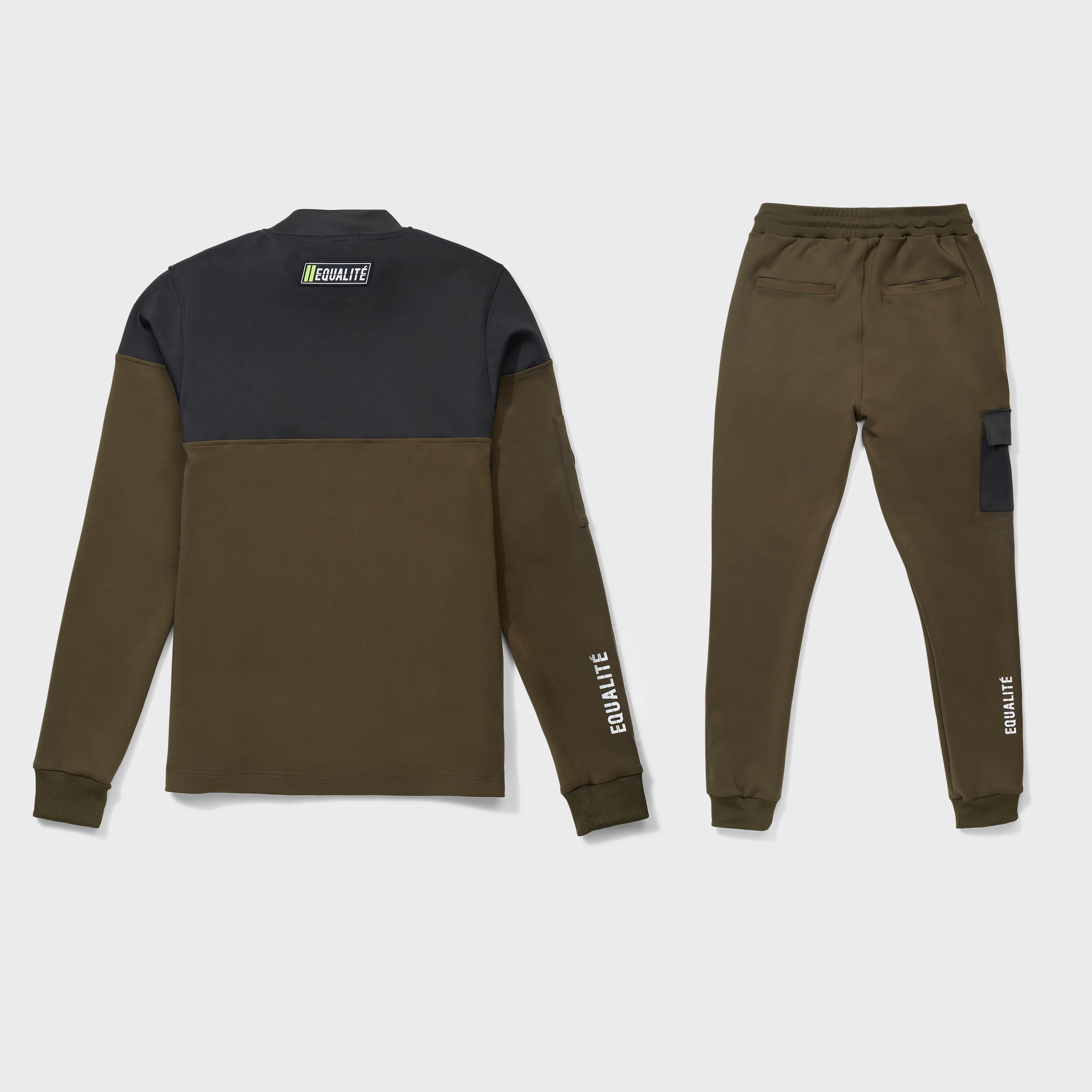 FUTURE POLYESTER TRACKSUIT ARMY & GREEN-2