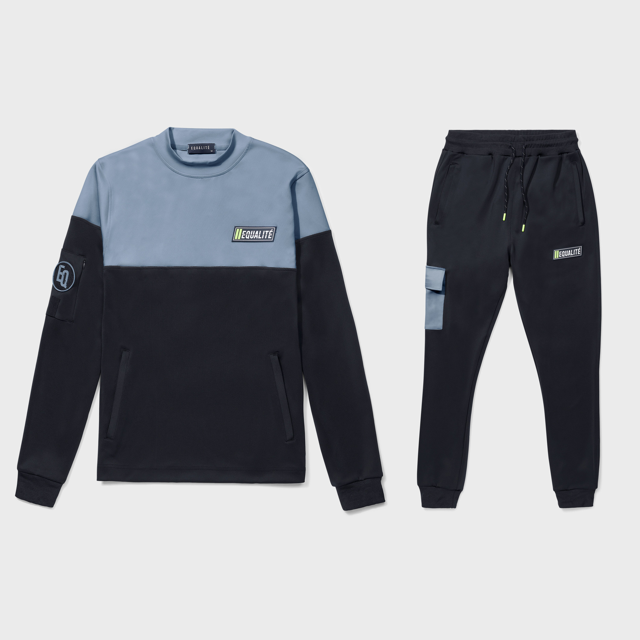 FUTURE POLYESTER TRACKSUIT BLACK & GREY-1