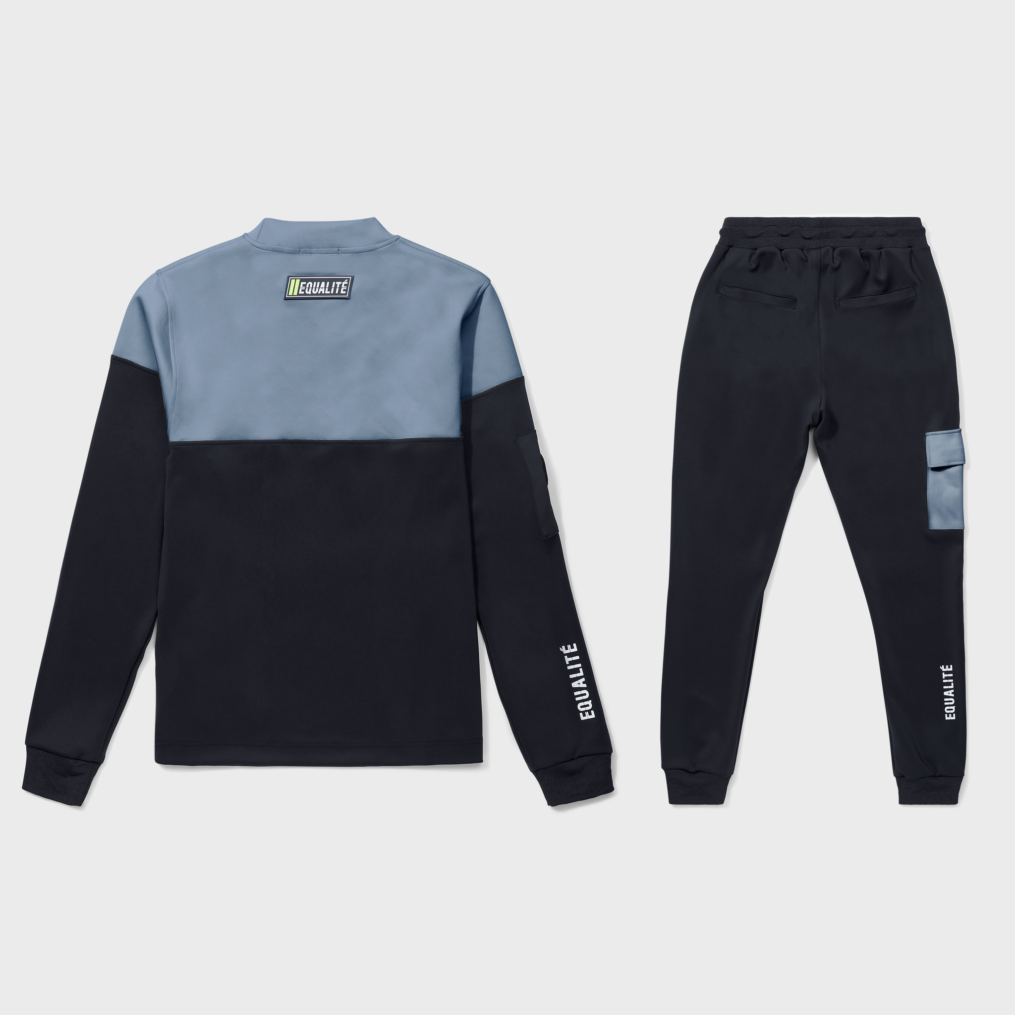 FUTURE POLYESTER TRACKSUIT BLACK & GREY-2