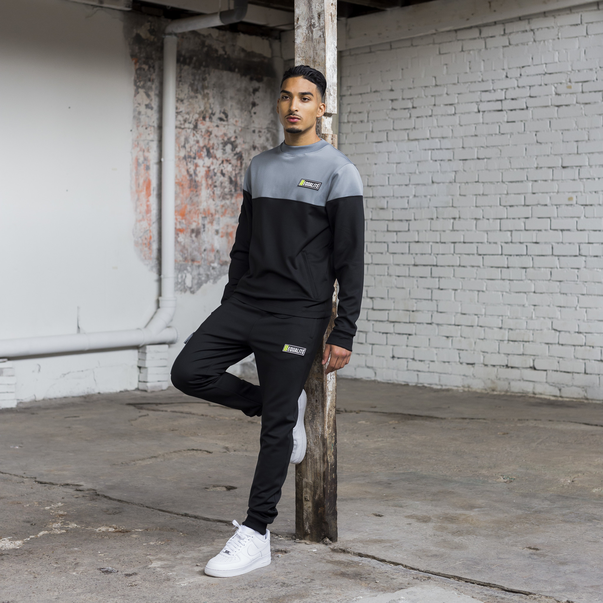 FUTURE POLYESTER TRACKSUIT BLACK & GREY-8