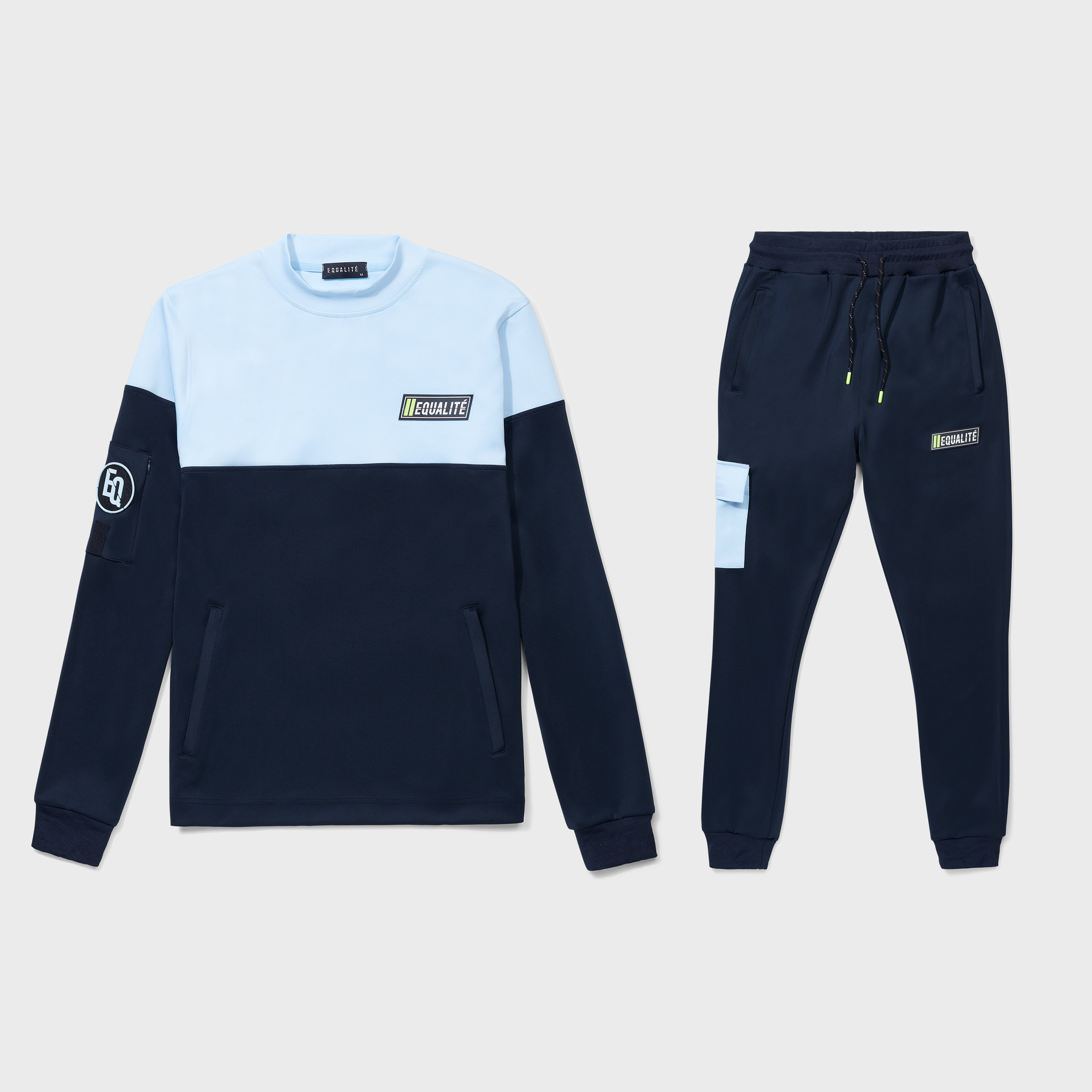 FUTURE POLYESTER TRACKSUIT NAVY & LIGHT BLUE-1