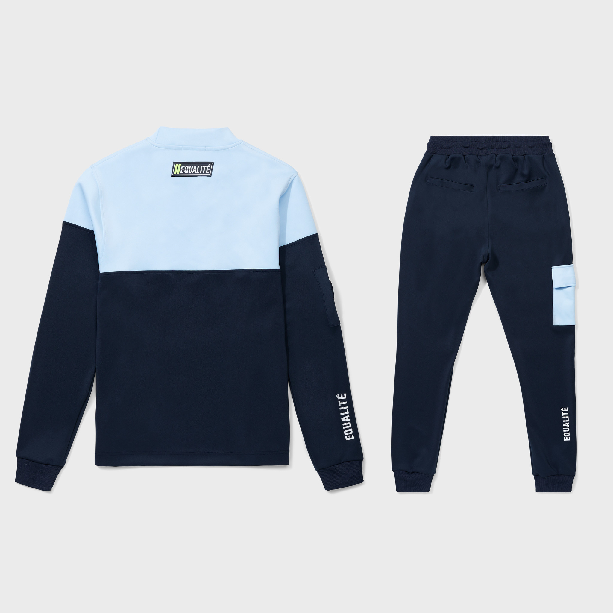 FUTURE POLYESTER TRACKSUIT NAVY & LIGHT BLUE-2
