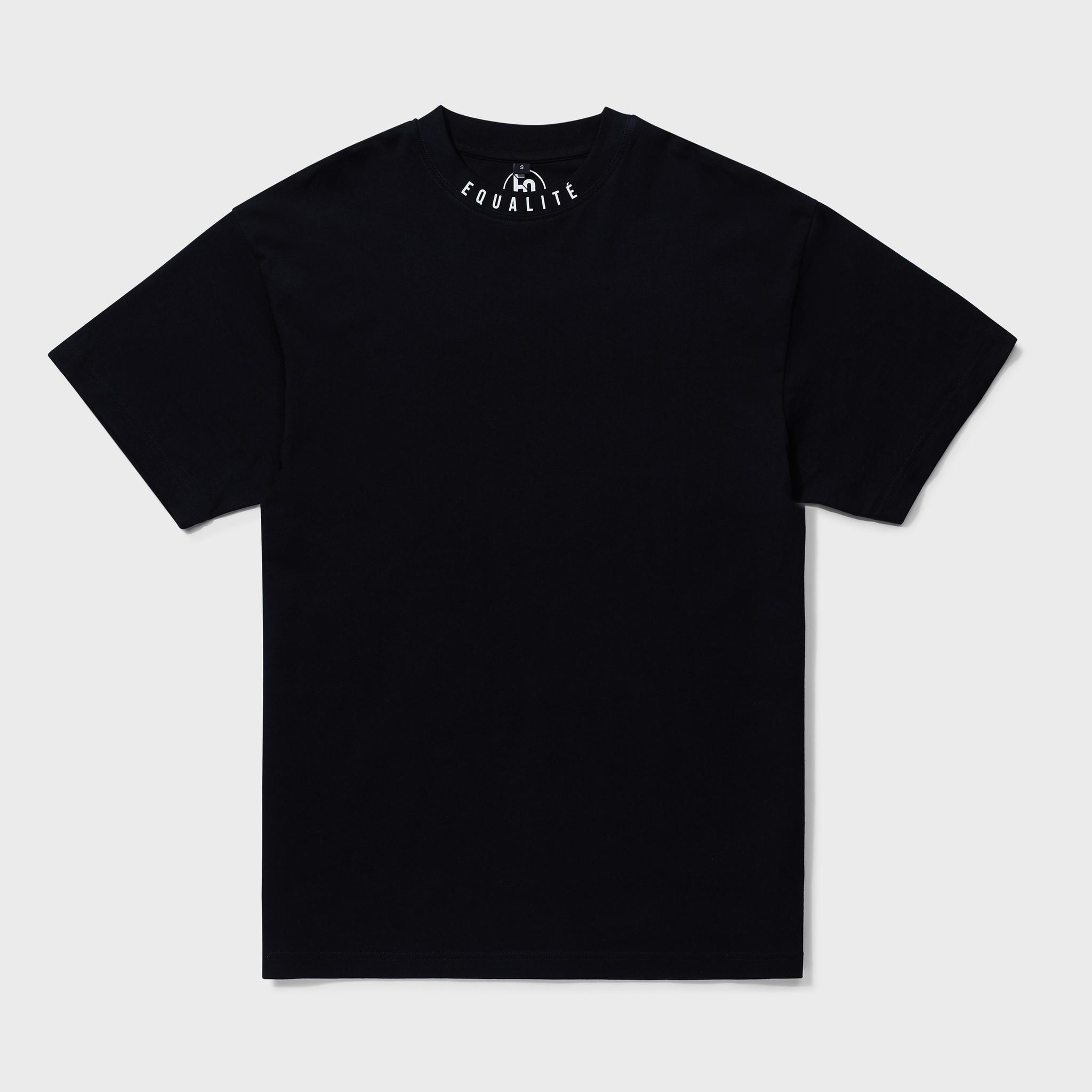 NECK OVERSIZED TEE BLACK-1