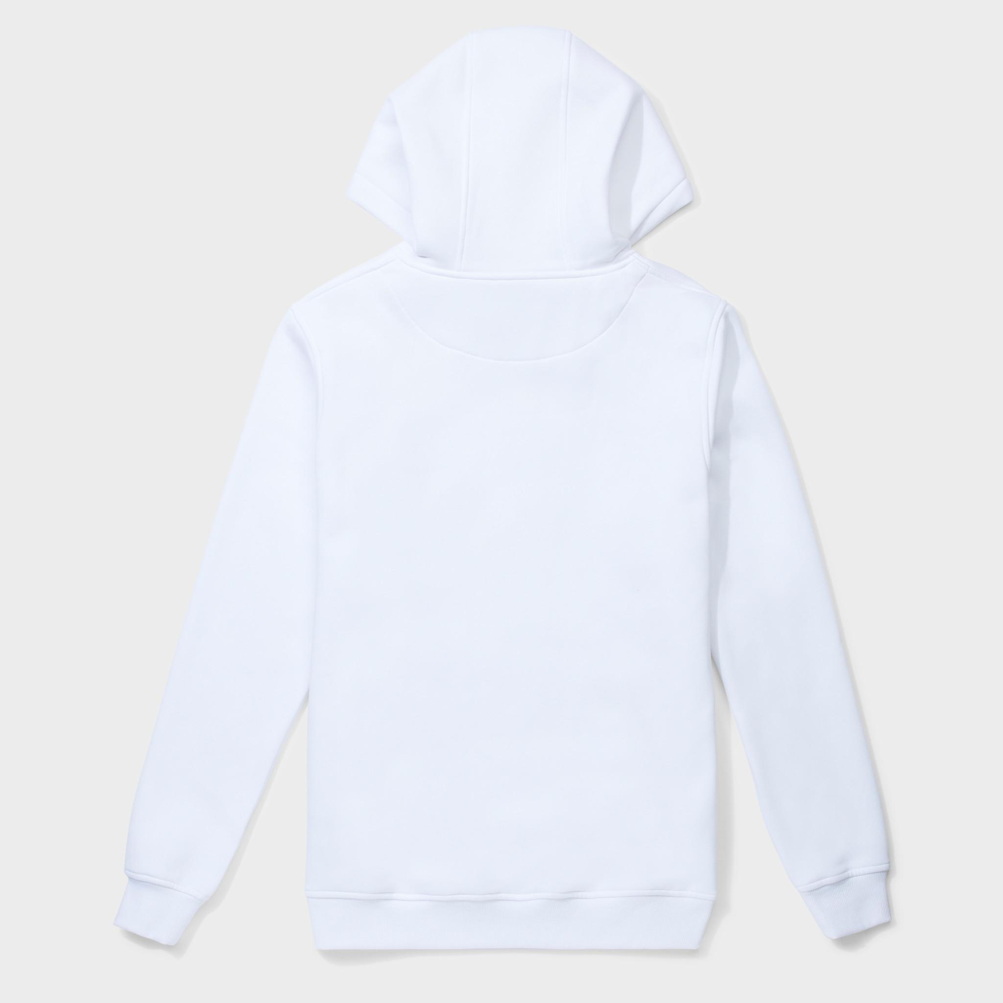 Gothic print hoodie white-2