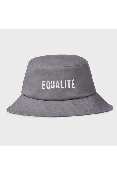 EQUALITÉ BUCKET HAT - GREY