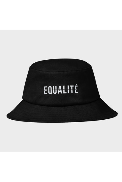 EQUALITÉ BUCKET HAT BLACK