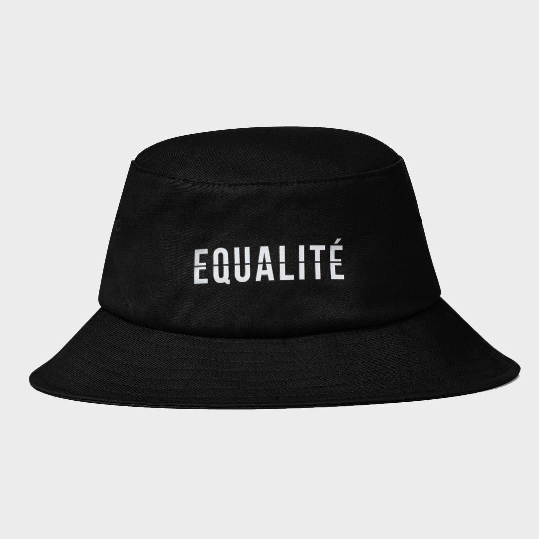 EQUALITÉ BUCKET HAT BLACK-1
