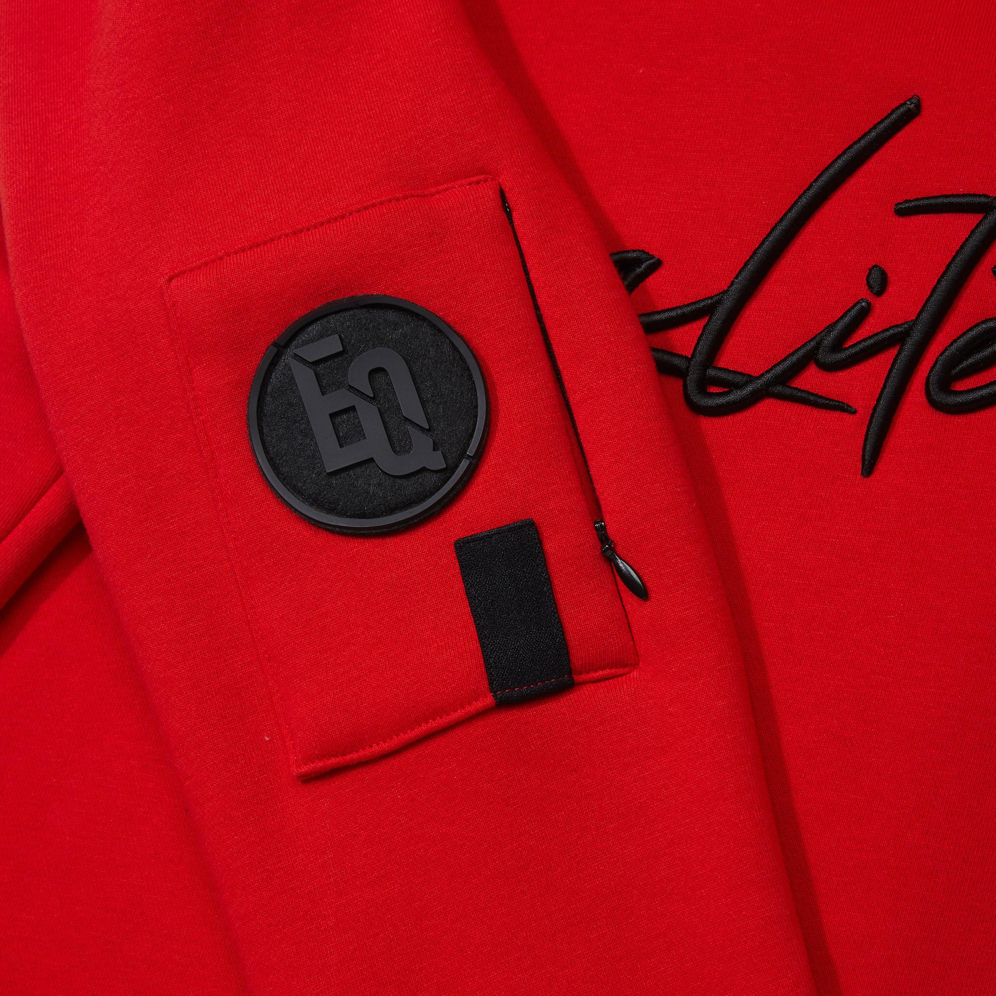 SIGNATURE HOODIE RED & BLACK-4