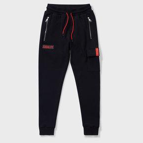 CARGO SWEATPANTS BLACK & RED