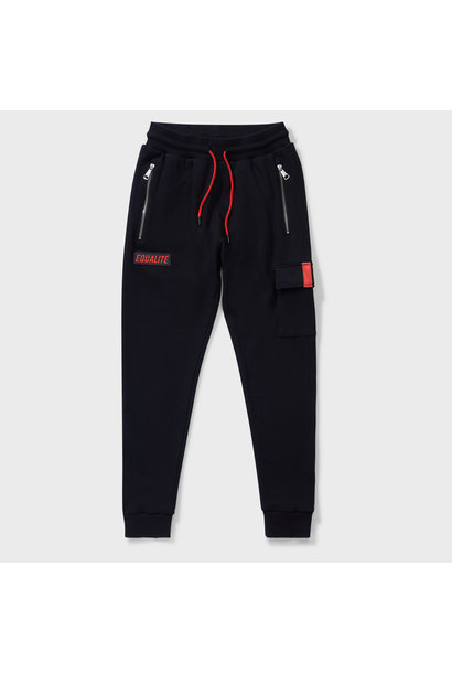 CARGO SWEATPANTS BLACK & RED