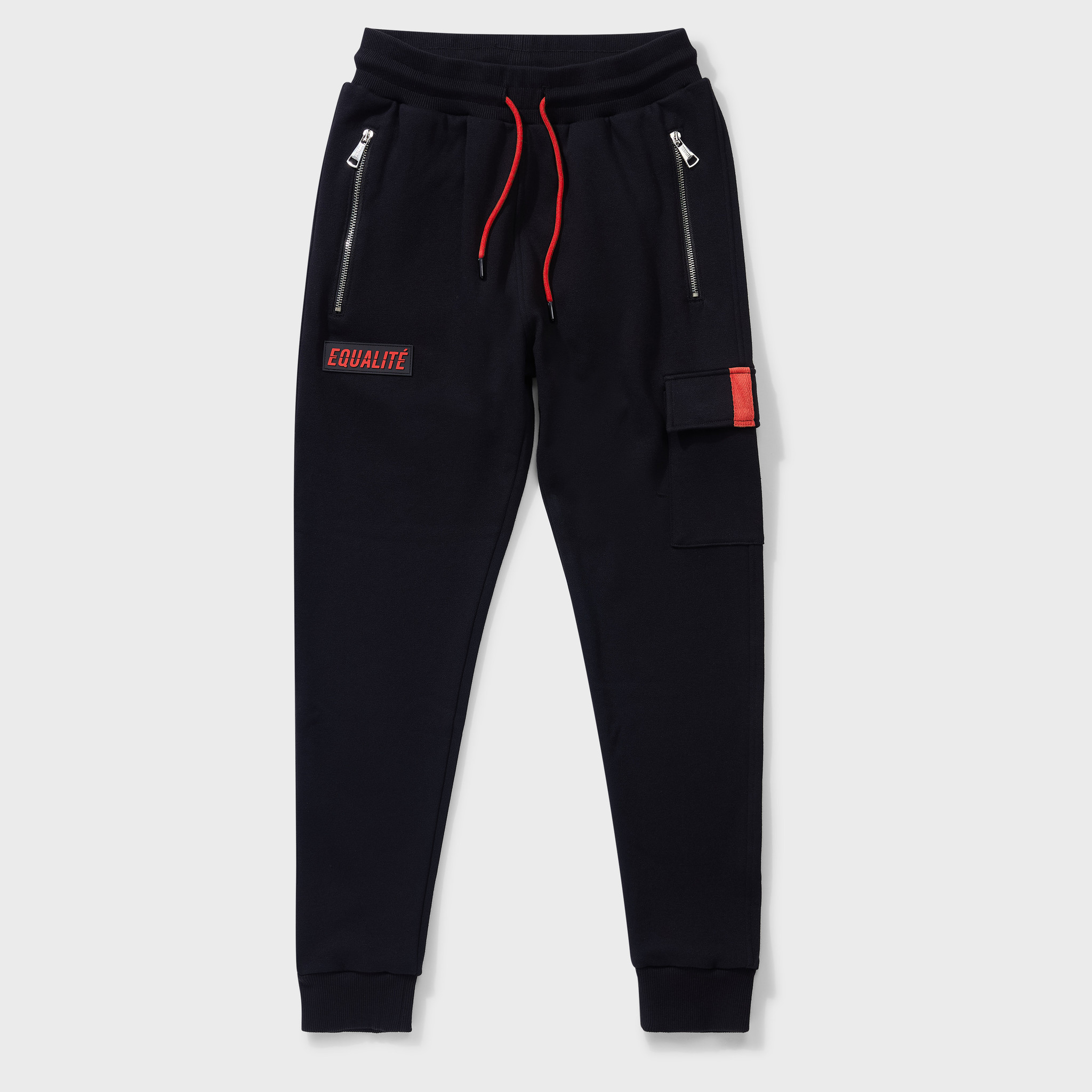 CARGO SWEATPANTS BLACK & RED-1