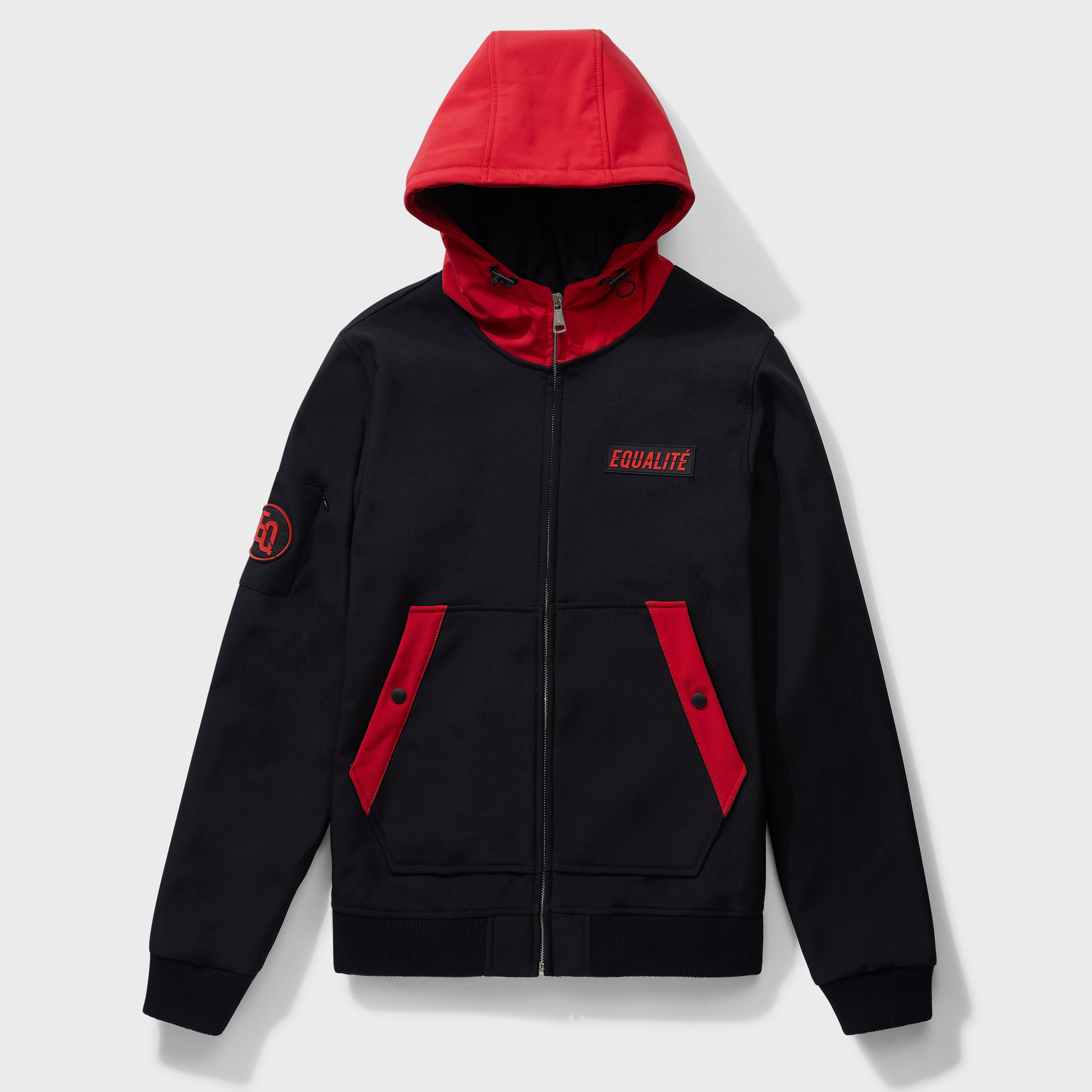 SOFT SHELL JACKET BLACK & RED-1