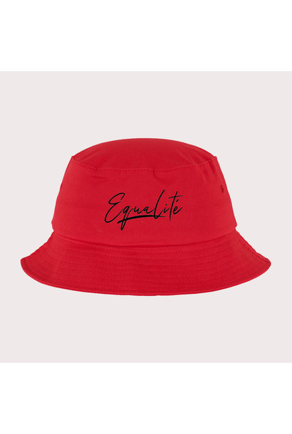 SIGNATURE BUCKET HAT RED