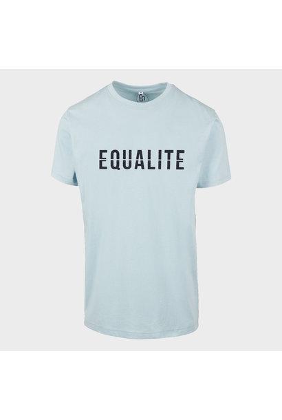 EQUALITÉ ESSENTIAL TEE - LIGHT BLUE / BLACK