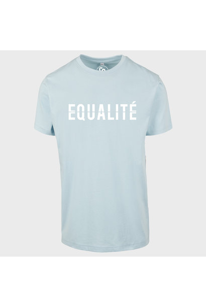 EQUALITÉ ESSENTIAL TEE - LIGHT BLUE / WHITE