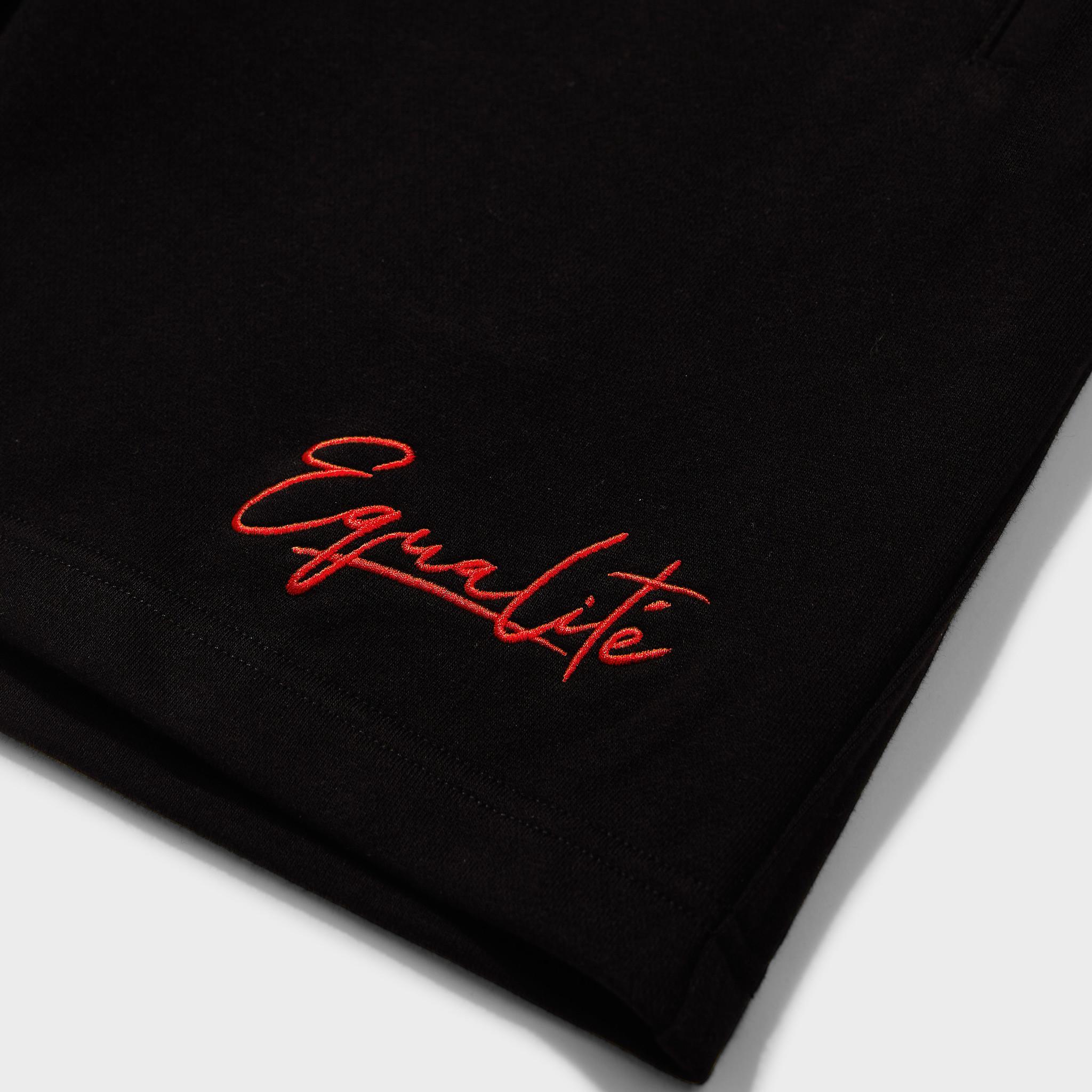 Wafi signature shorts black & red-3