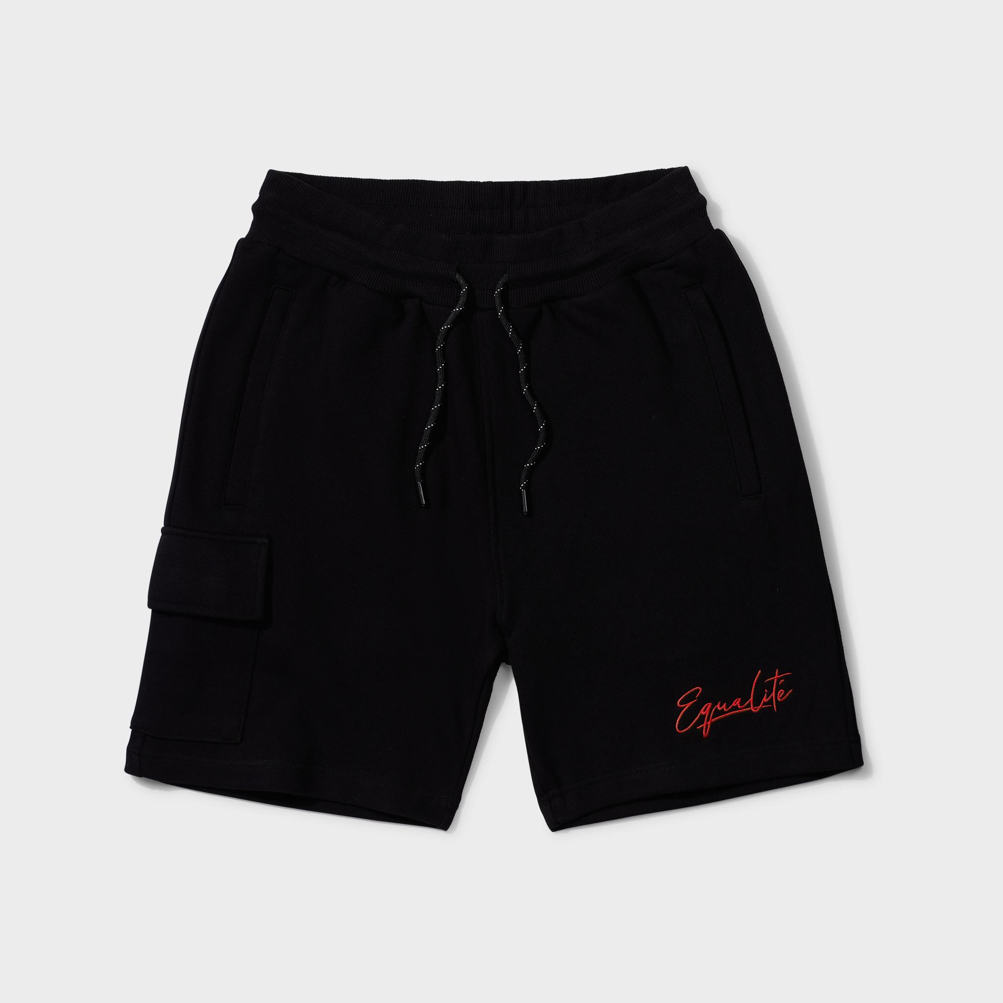 Wafi signature shorts black & red-1