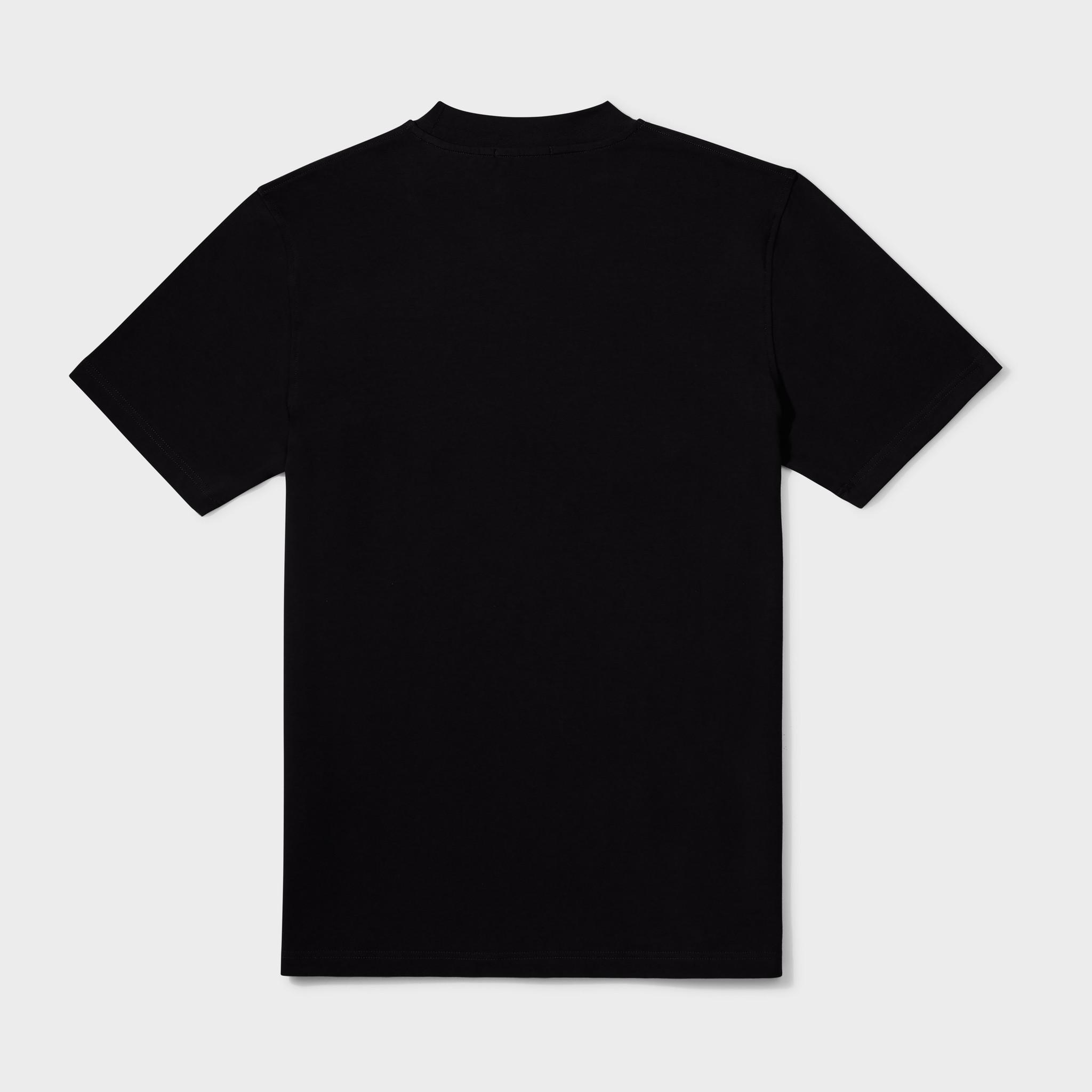 WAFI SIGNATURE TEE BLACK / NEON YELLOW-2