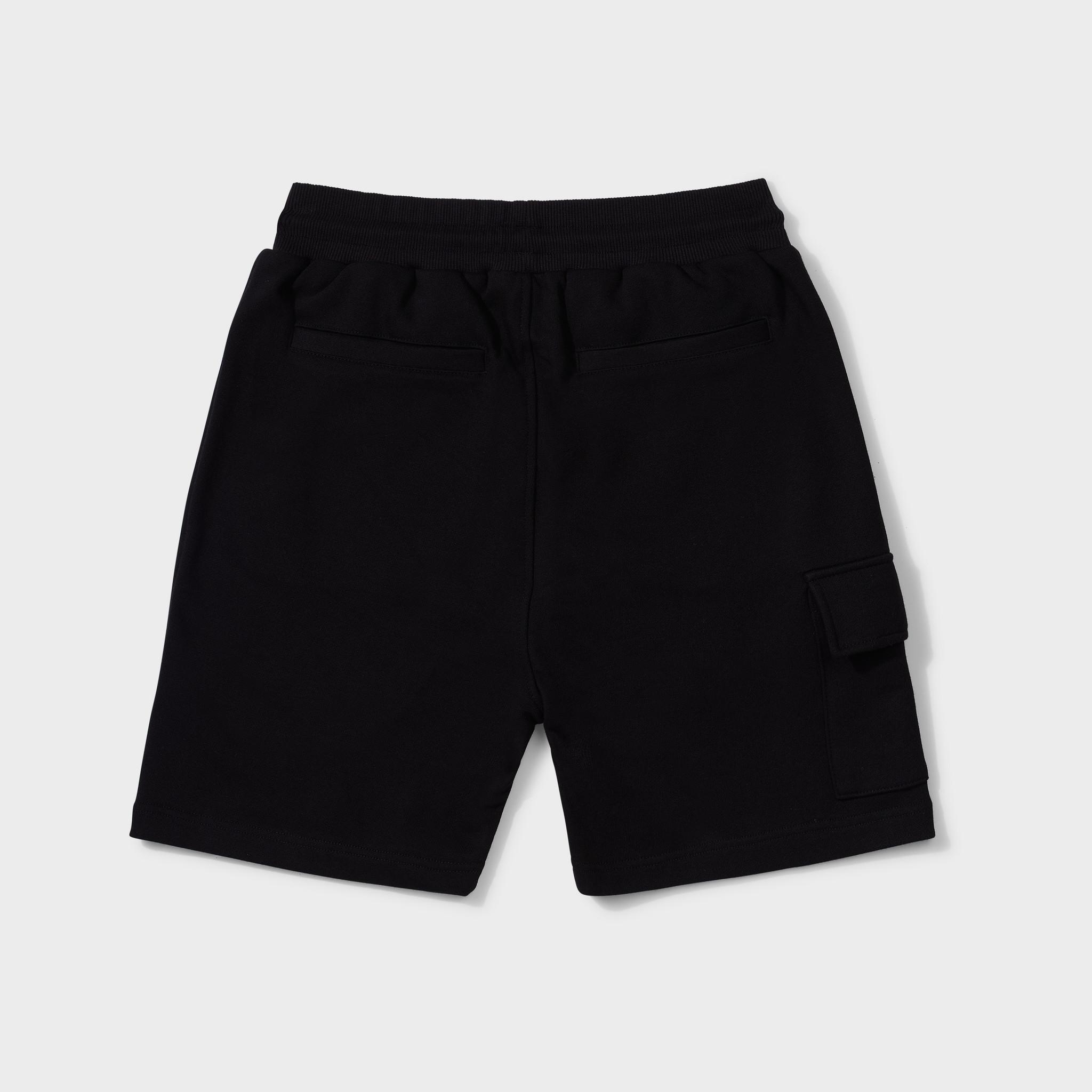 Wafi signature shorts black & neon yellow-2