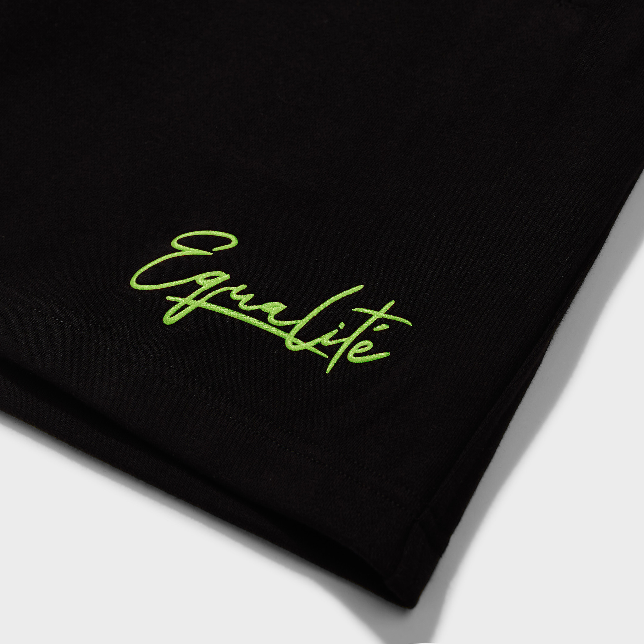 Wafi signature shorts black & neon yellow-3