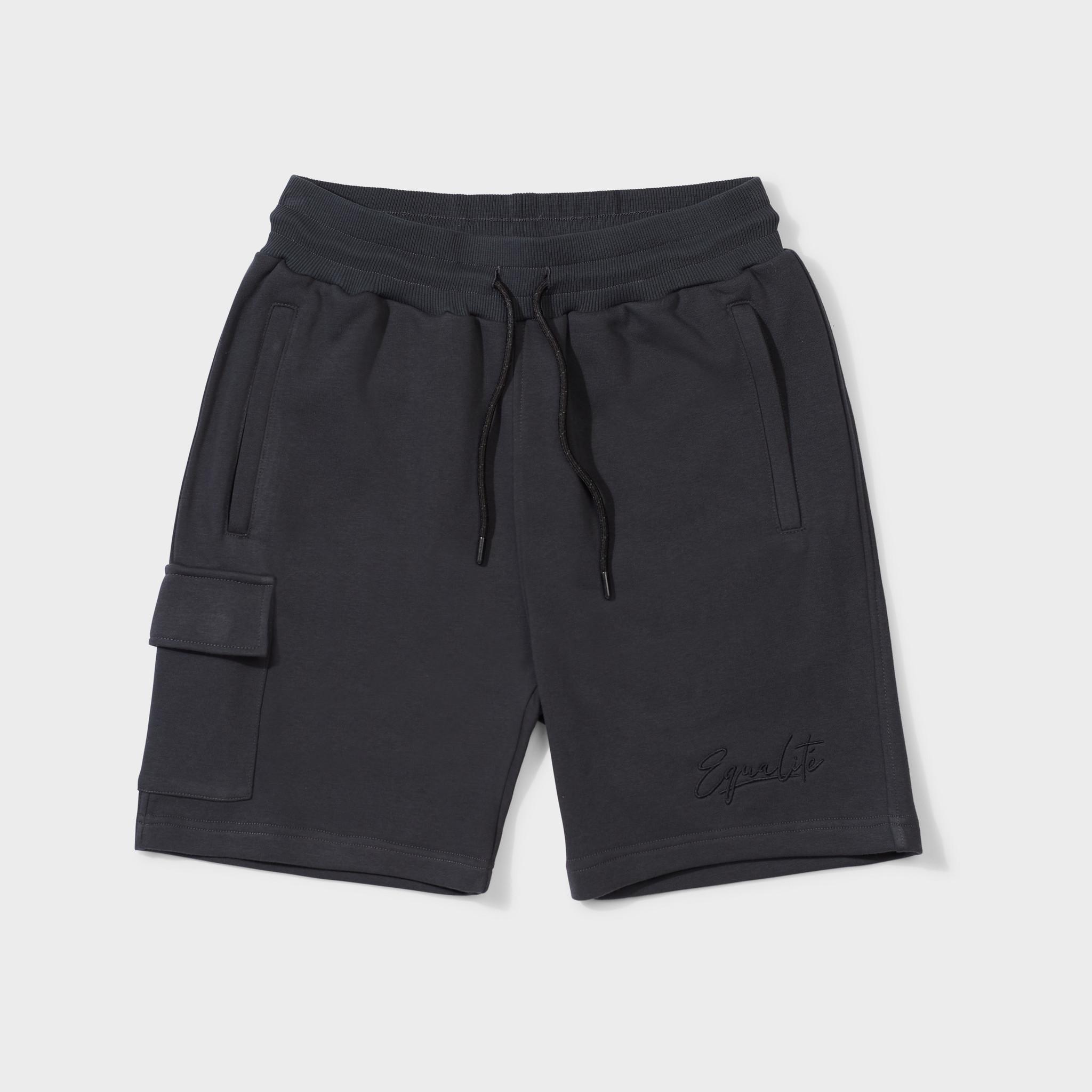 Wafi signature shorts antra & black-1