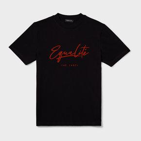 WAFI SIGNATURE TEE BLACK / RED
