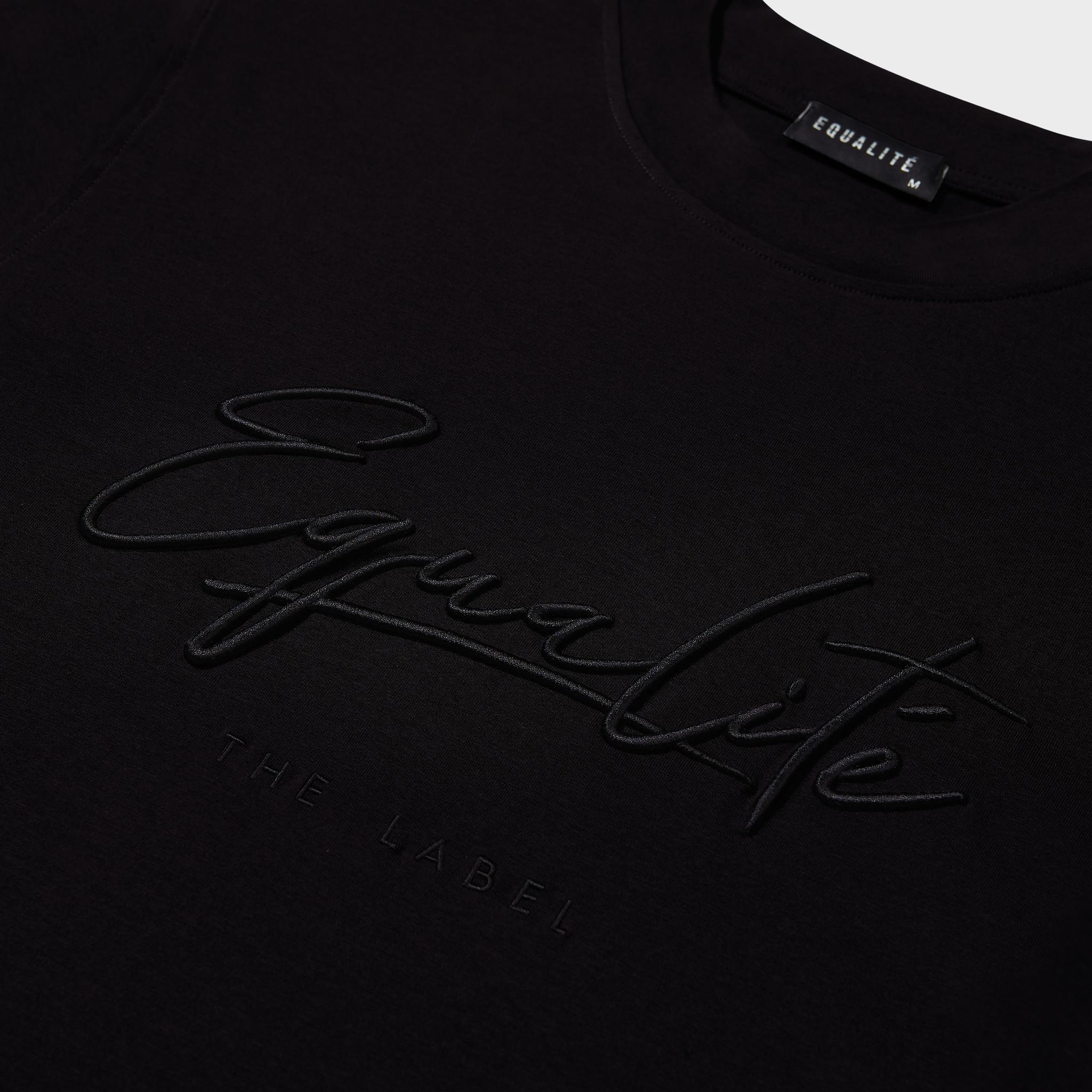 Wafi signature tee black & antra-3