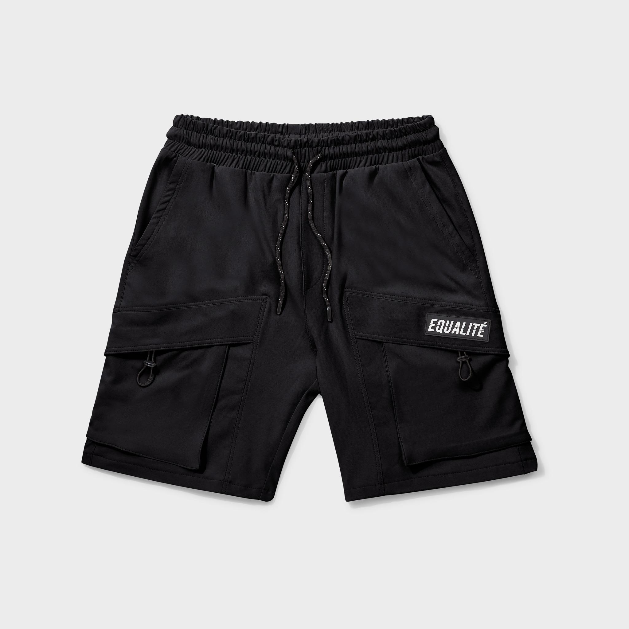Rafa cargo shorts black-1