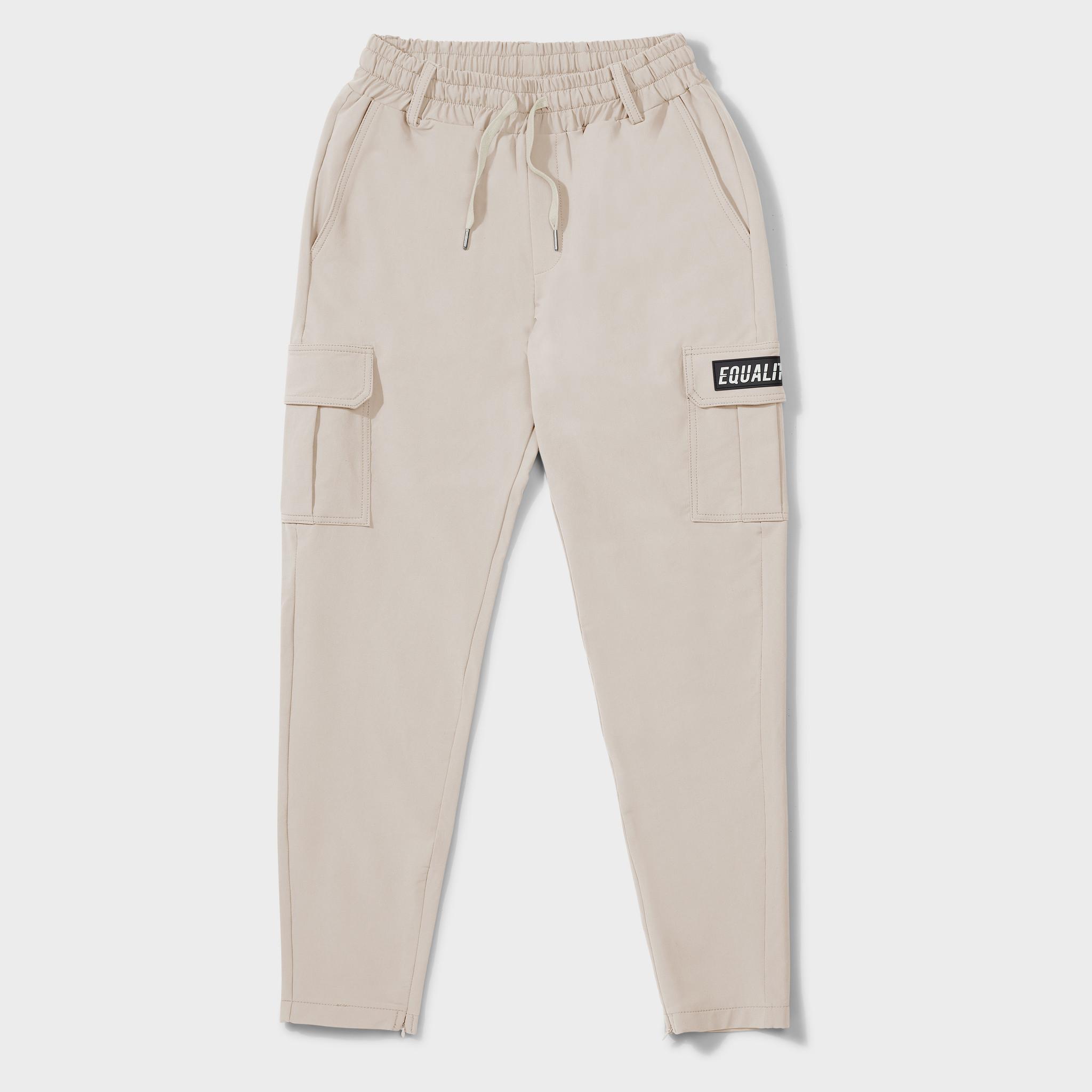 Cargo pants beige-1