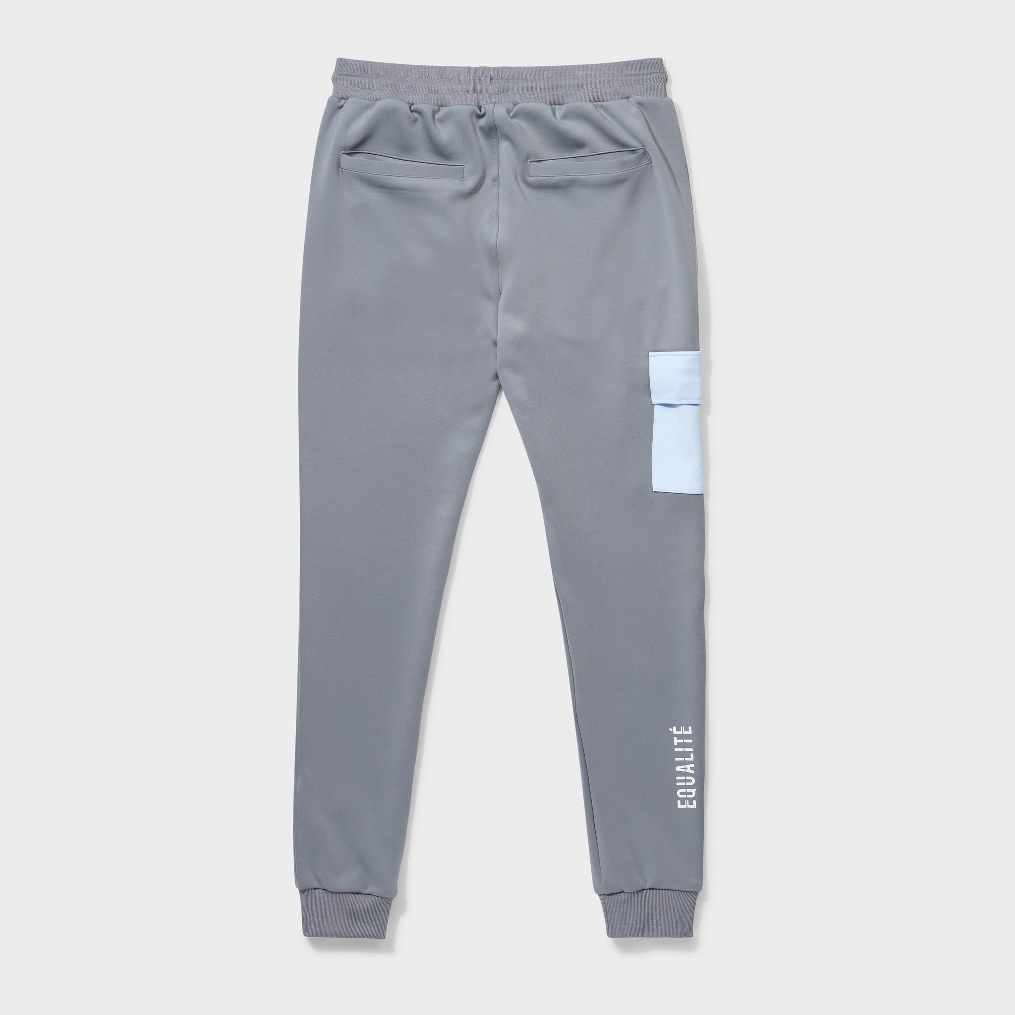 Future polyester tracksuit grey & light blue-7