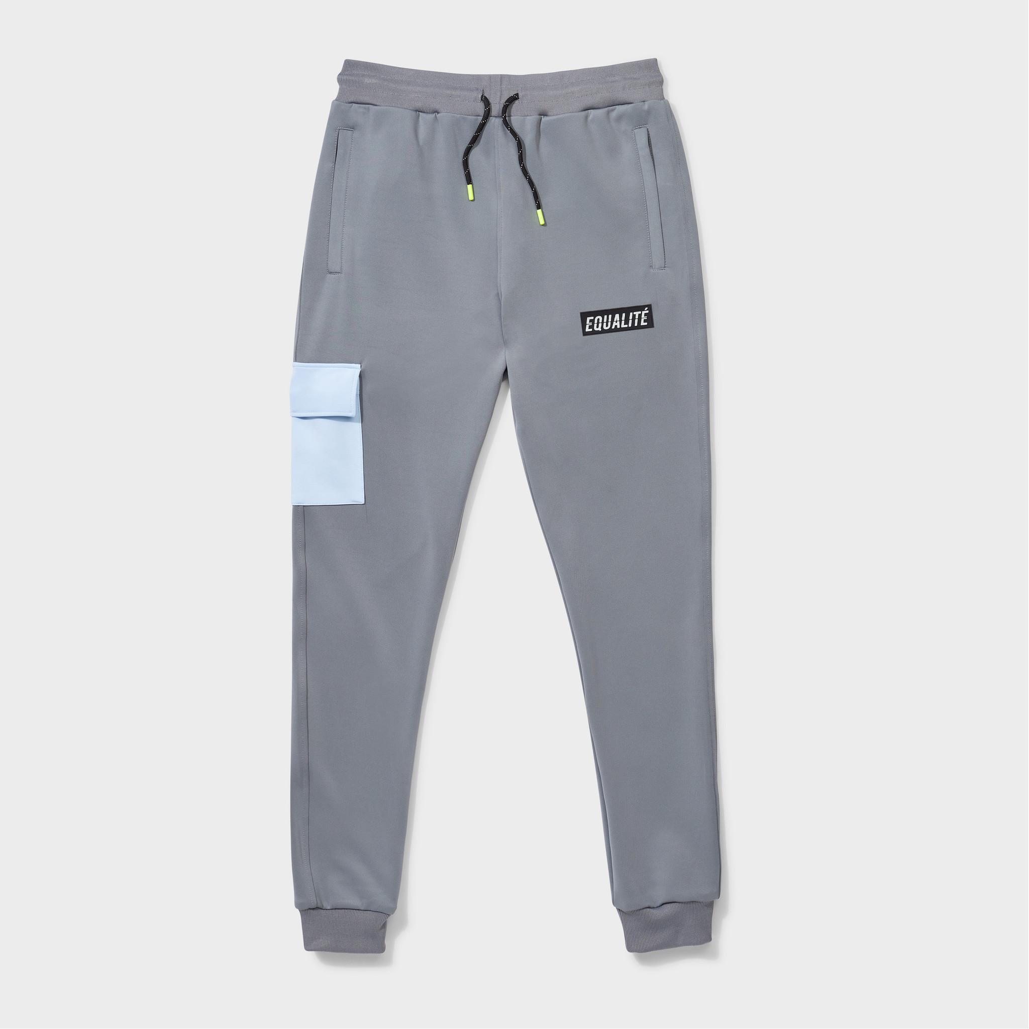 Future polyester tracksuit grey & light blue-6