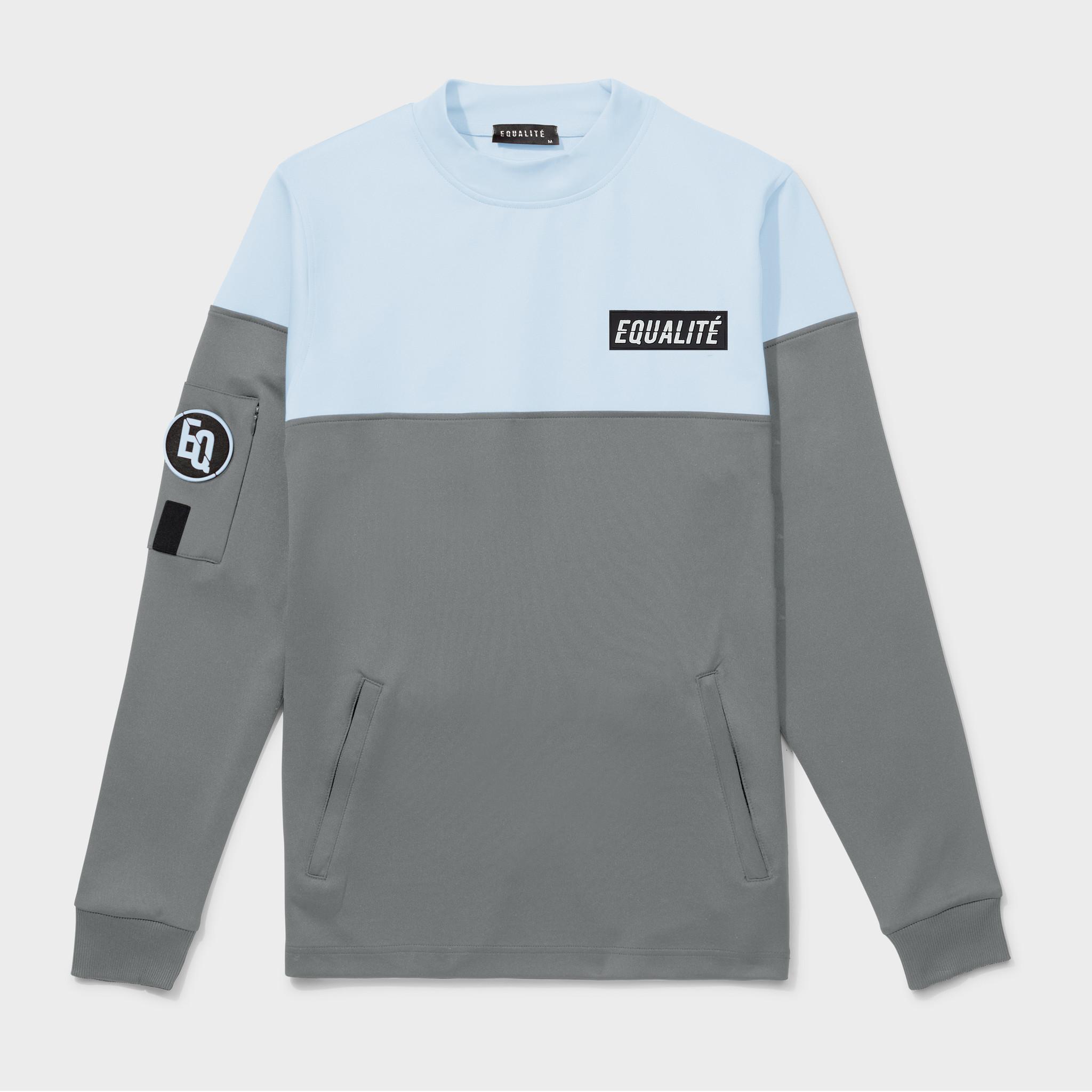 Future polyester tracksuit grey & light blue-3