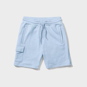 Wafi signature shorts light blue
