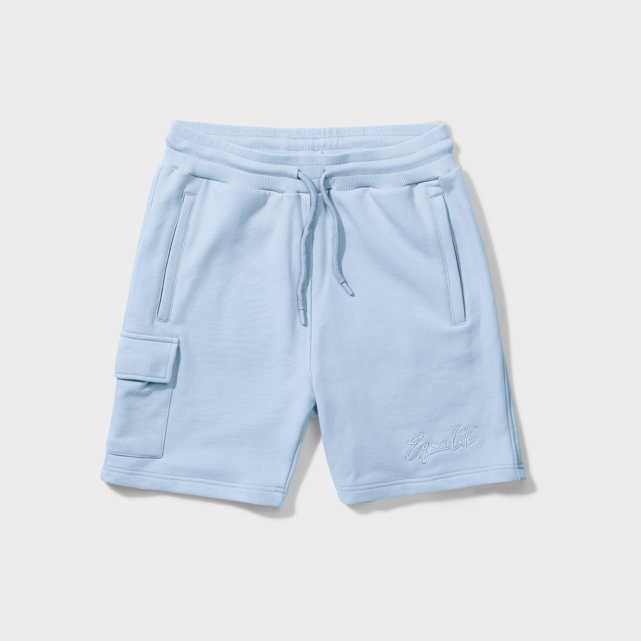 Wafi signature shorts light blue-1