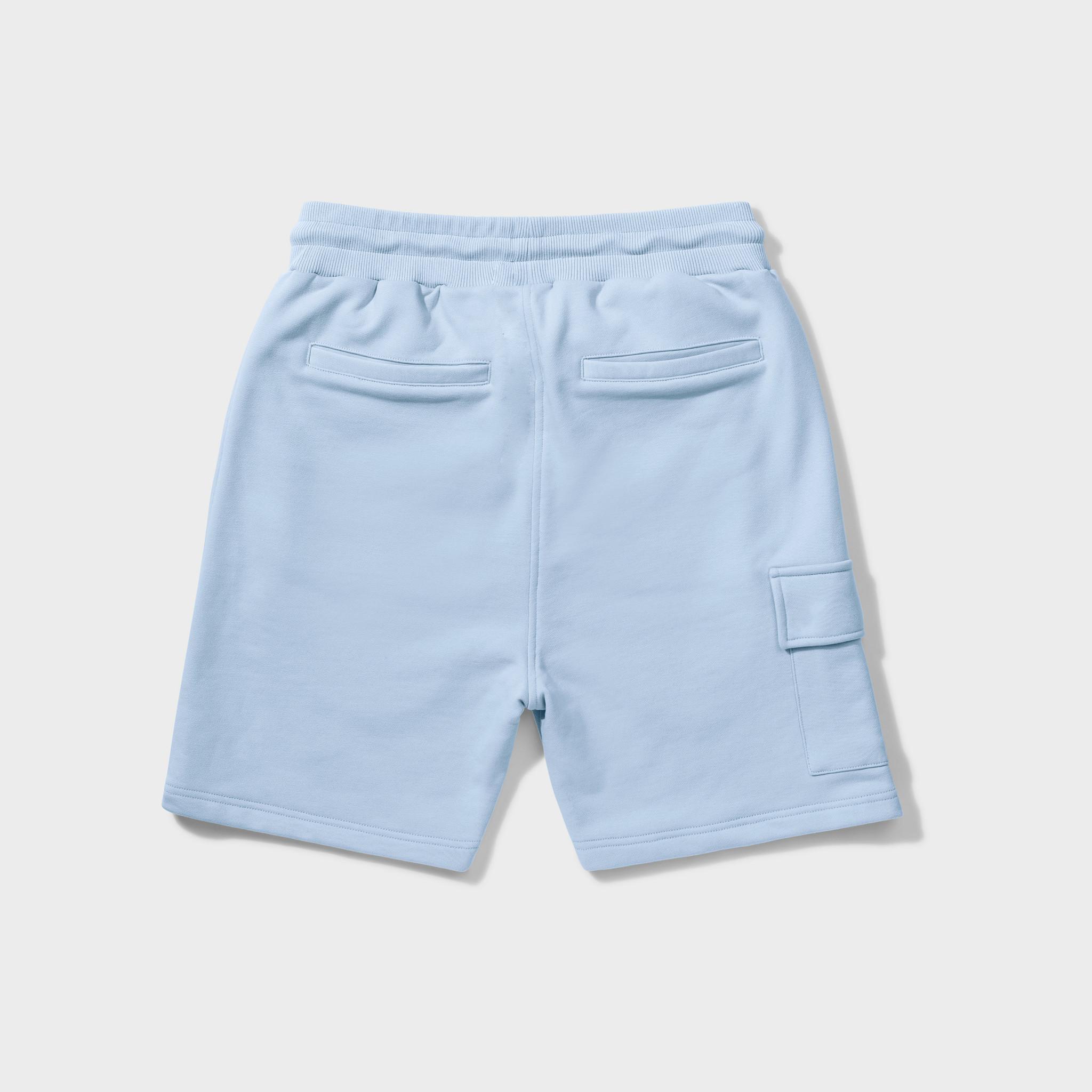 Wafi signature shorts light blue-2