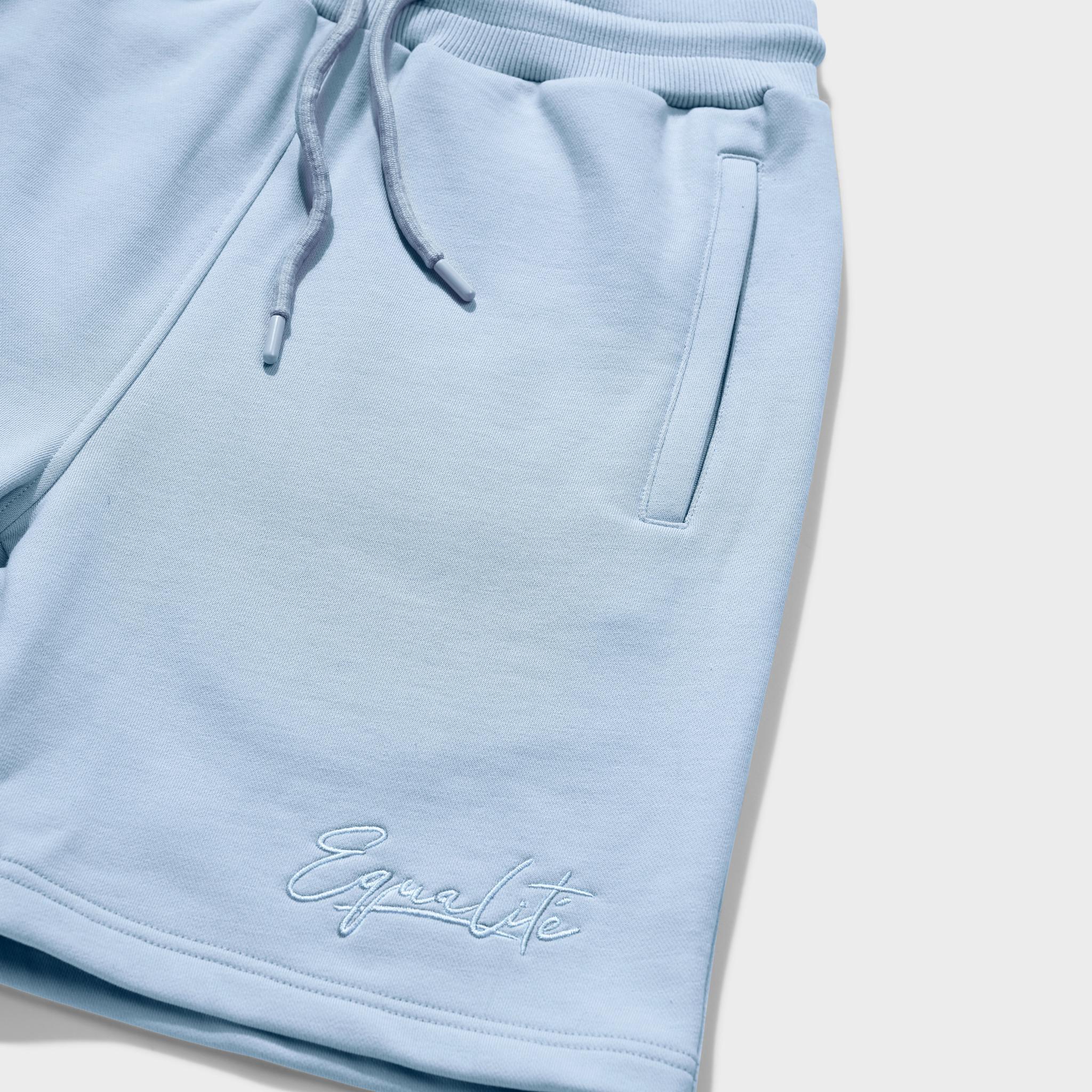Wafi signature shorts light blue-3