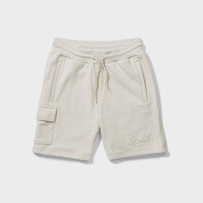Wafi signature shorts beige