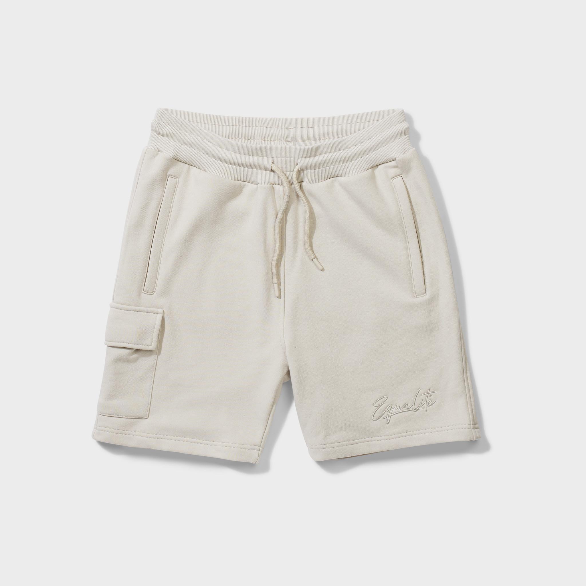 Wafi signature shorts beige-1