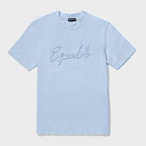 Wafi signature tee light blue