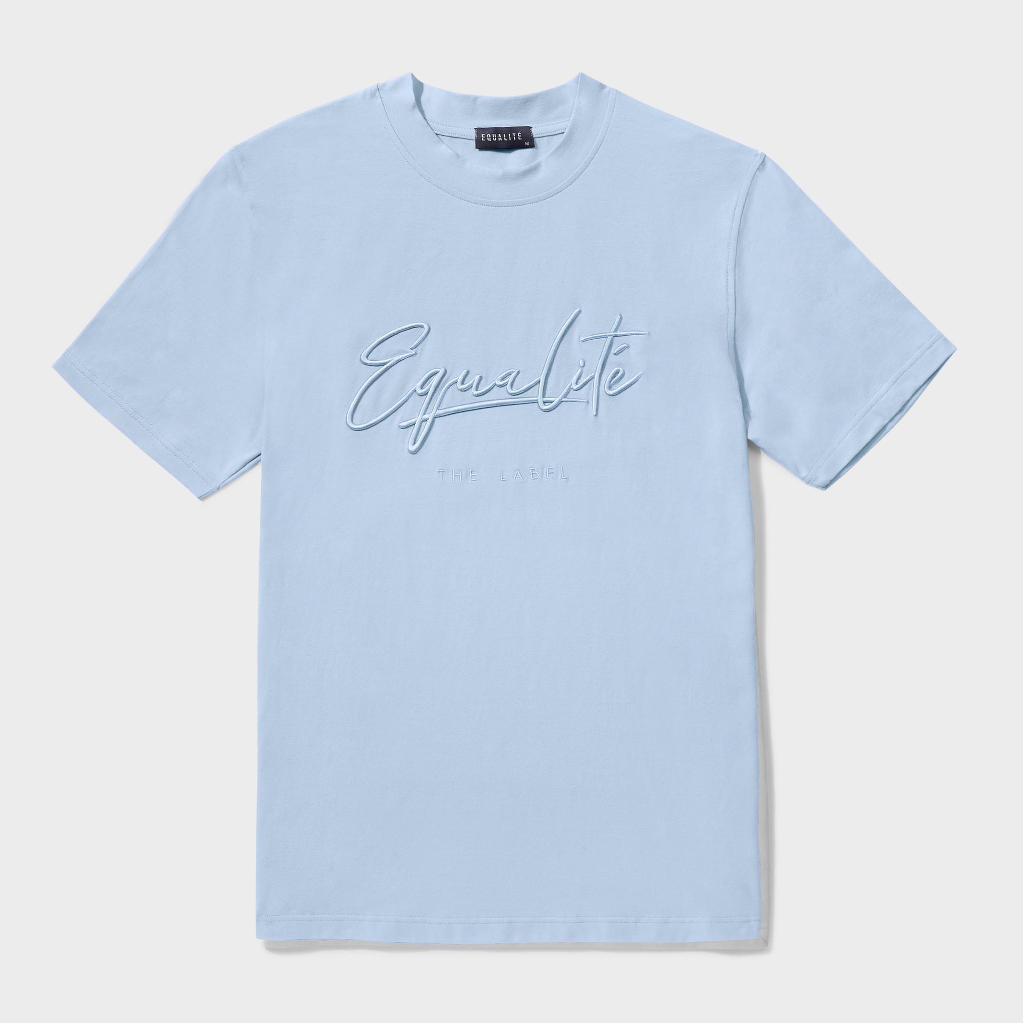 Wafi signature tee light blue-1